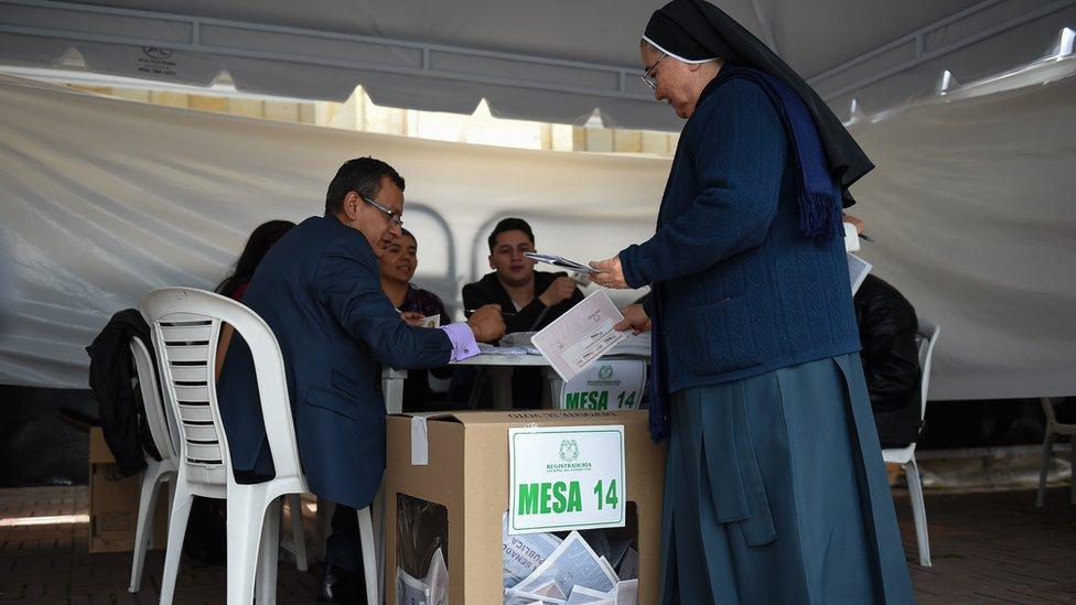 Votación en Colombia