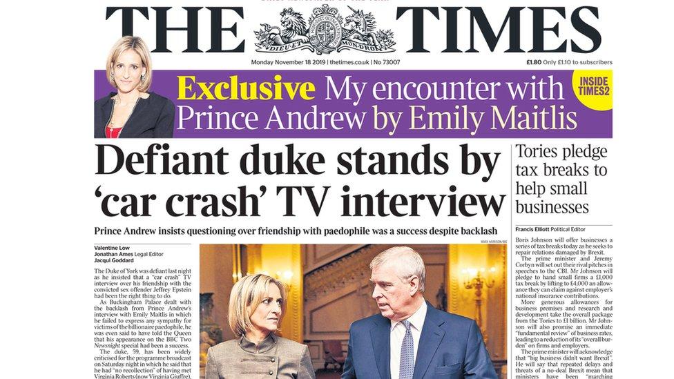 """وصفت صحيفة التايمز المقابلة بأنها كانت تشبه """"حادثا مروريا مروعا"""""""