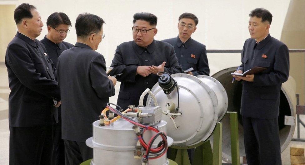 Kim Jong-un hablando sobre armas nucleares.