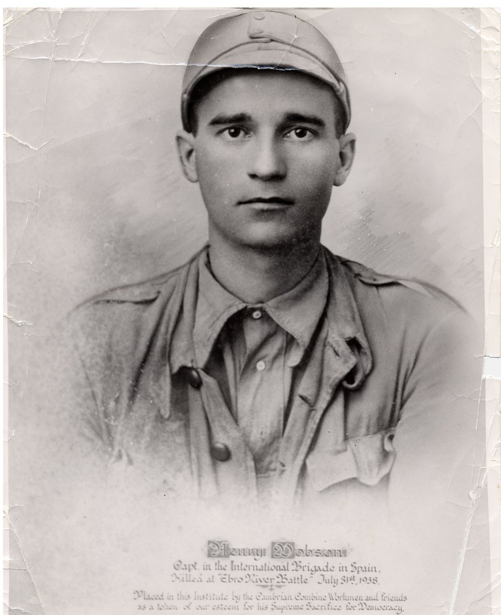 Harry Dobson - one of many Welshmen who joined the International Brigages to fight against the rise of fascism in the Spanish Civil War.
