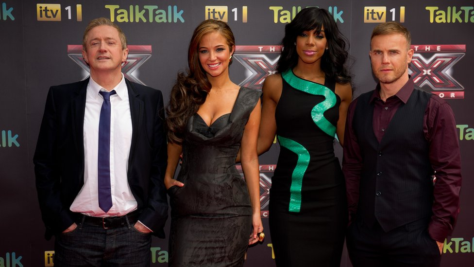Louis Walsh, Tulisa, Kelly Rowland and Gary Barlow