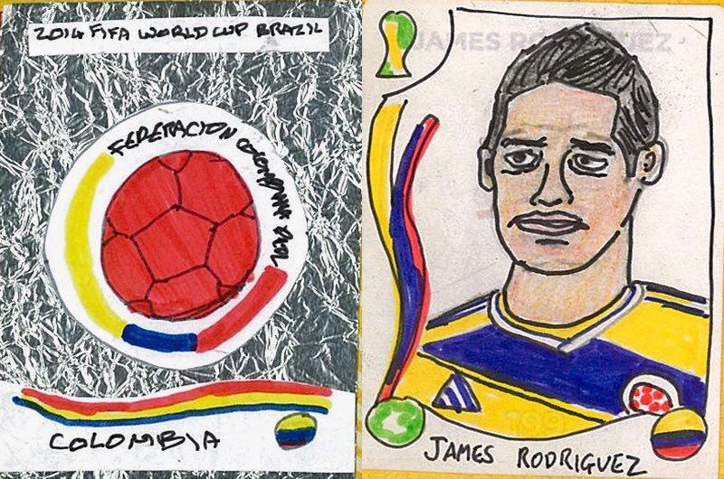 James Rodríguez y el escudo de la Federación Colombiana de Fútbol