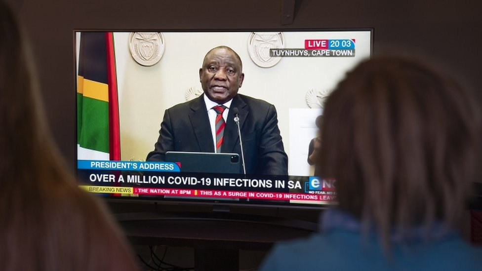 Covid South Africa S Ramaphosa Announces New Restrictions As Cases Soar Bbc News