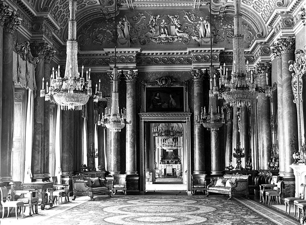 Green Room, Buckingham Palace, circa 1950