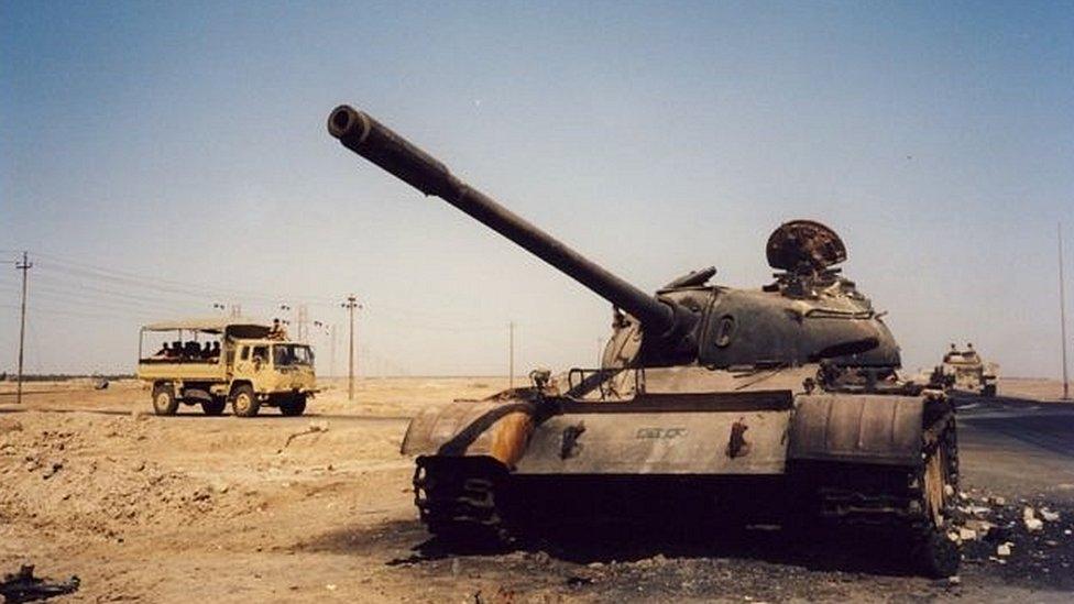 Tanque no Iraque em 2003