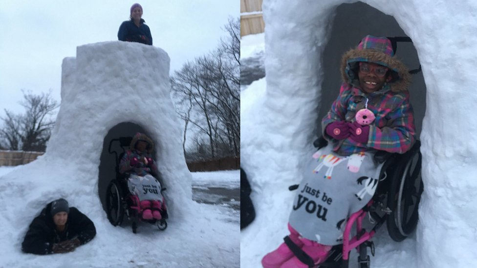 Ohio dad builds igloo for disabled daughter