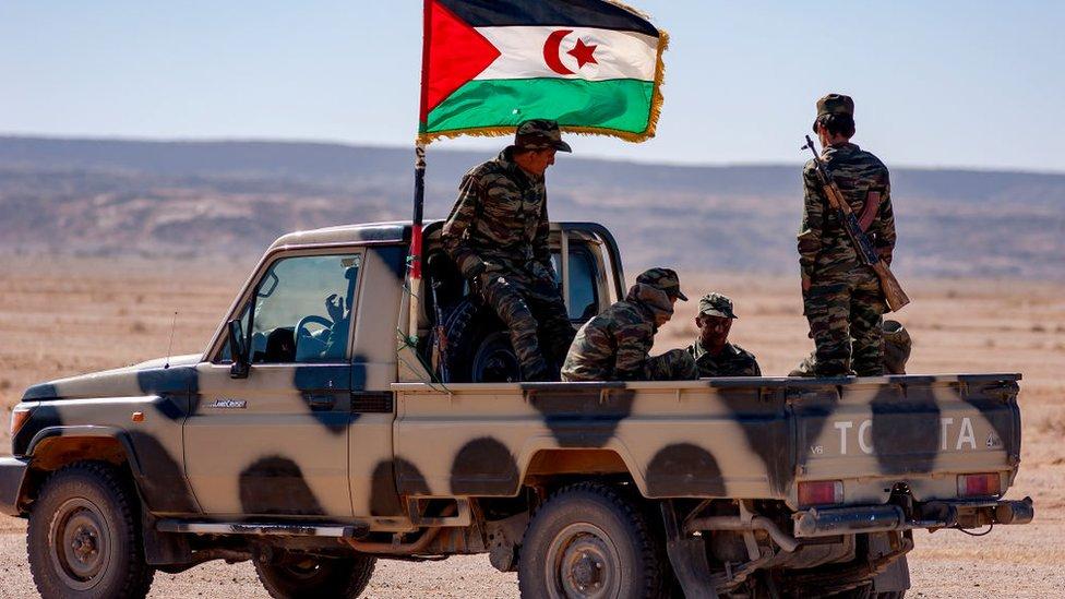 """قوات تابعة لما يسمى """"الجمهورية العربية الصحراوية الديمقراطية"""". صورة أرشيفية"""
