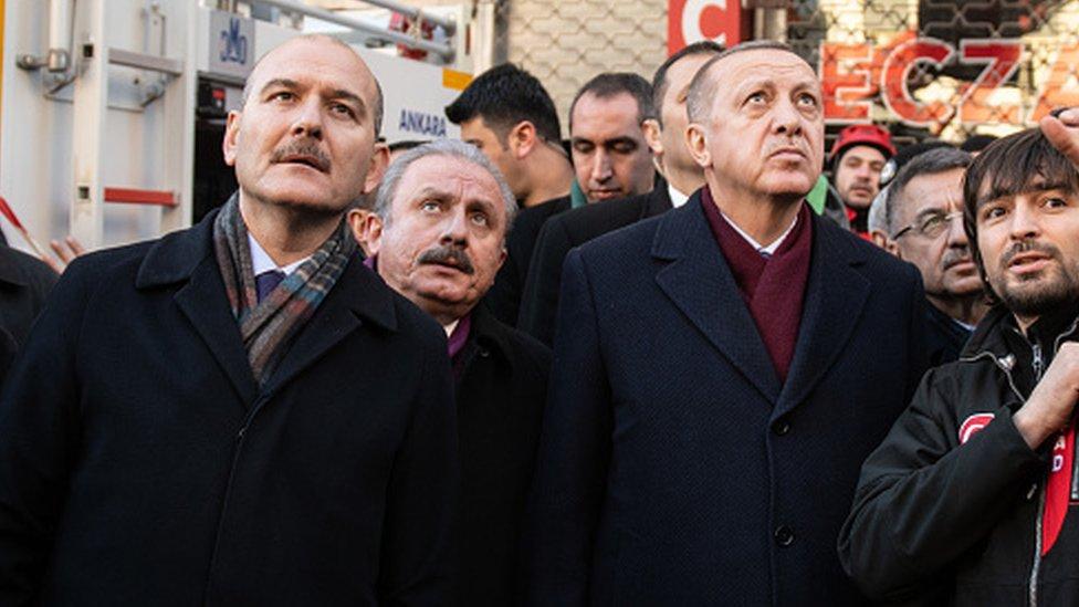 Süleyman Soylu, Mustafa Şentop ve Recep Tayyip Erdoğan