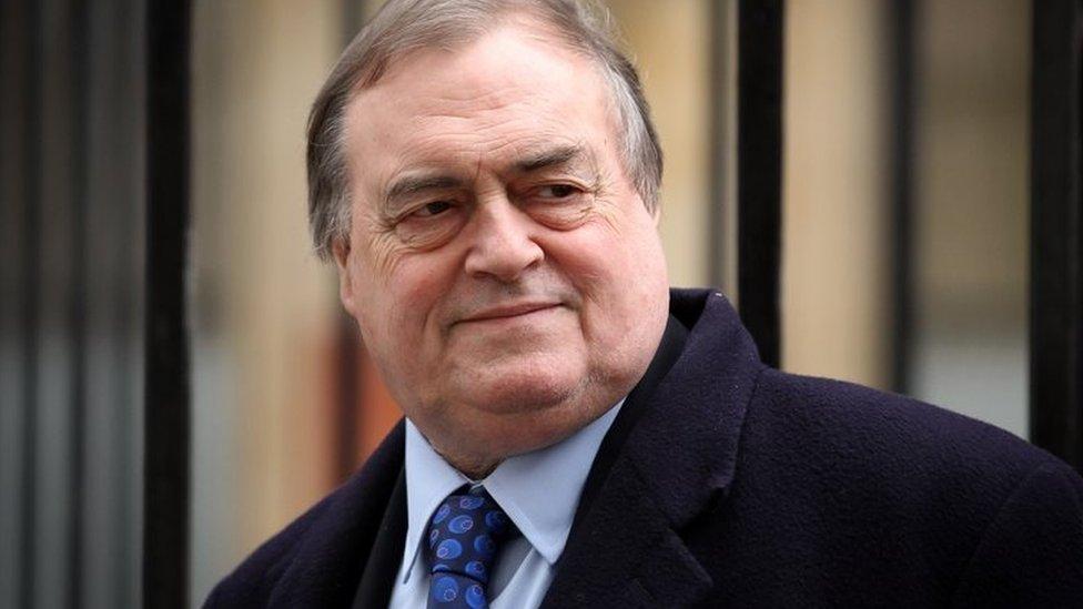Former deputy PM John Prescott suffers stroke