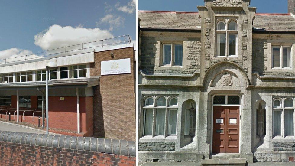 Pontypridd and Holyhead courts