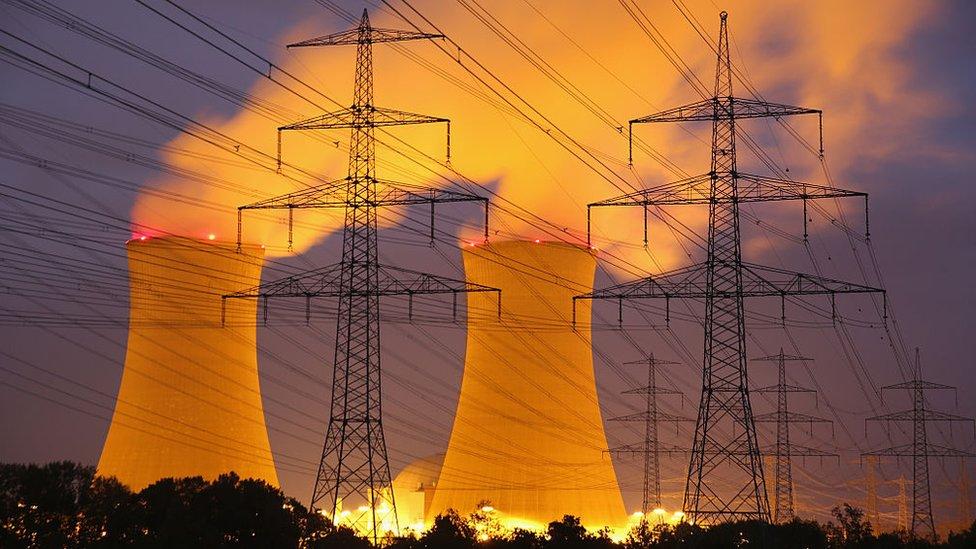 Una planta de energía nuclear