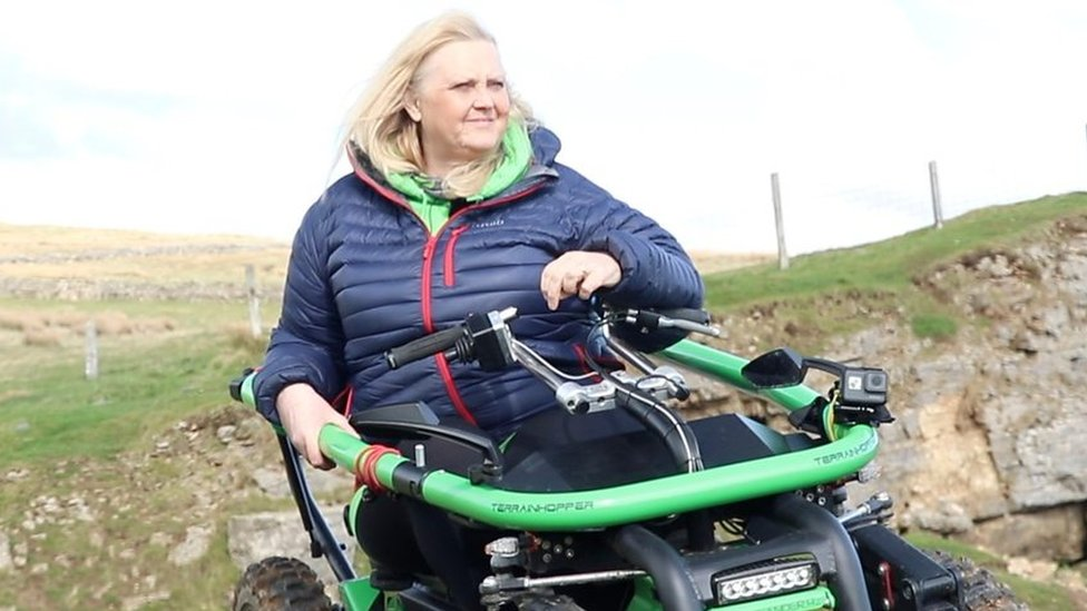 The woman forging accessible routes in a 4x4 wheelchair