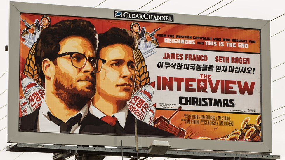 Movie poster for The Interview