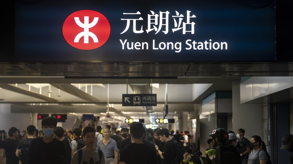 香港新界元朗港鐵元朗站進站口(27/7/2019)