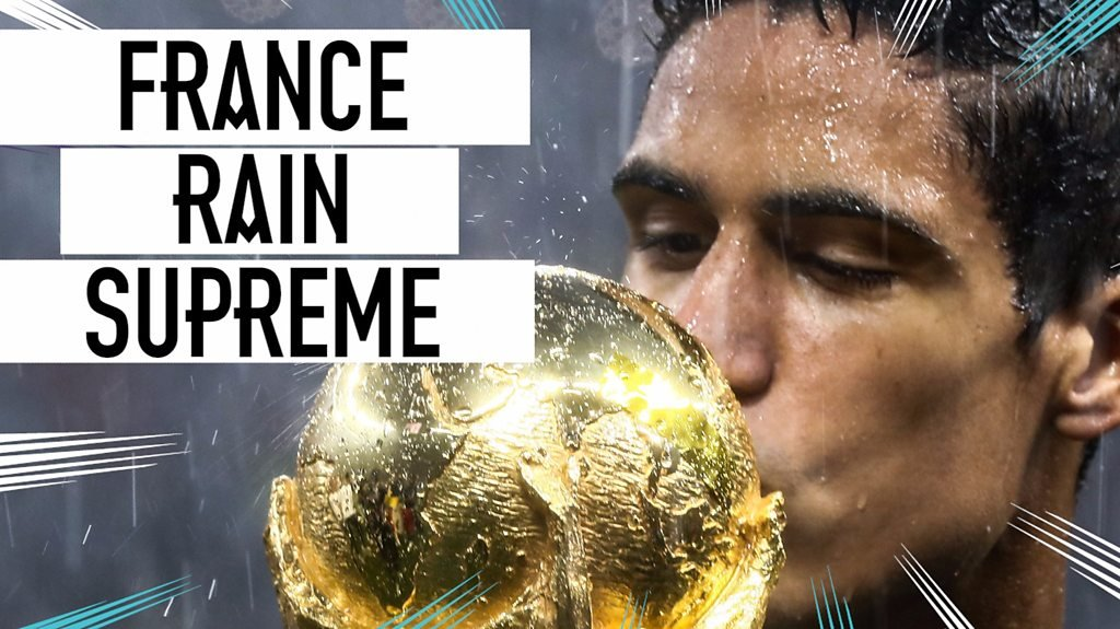 World Cup 2018: Soggy celebrations: Rain fails to dampen France's trophy lift