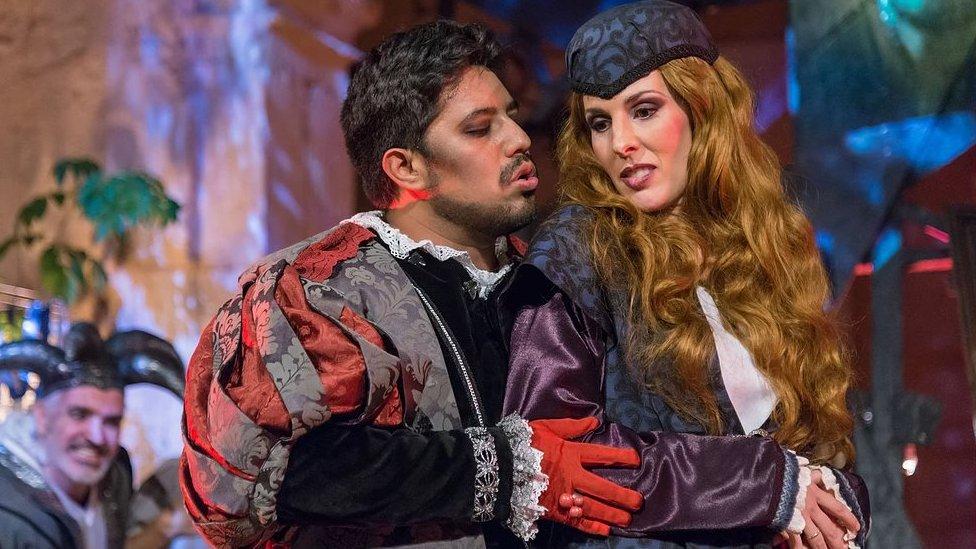 Scene from Rigoletto