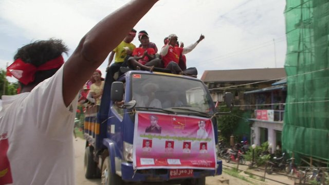 A NLD rally bus