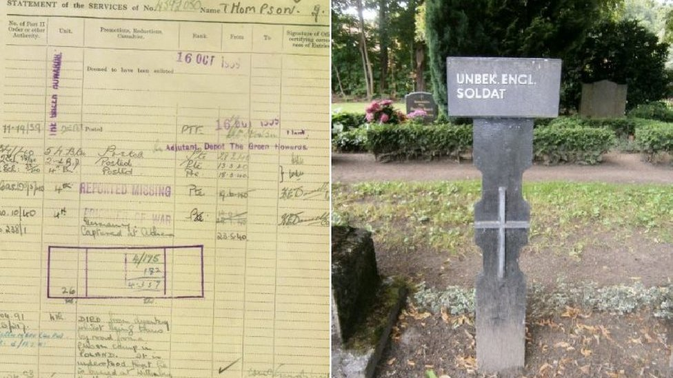 WW2 soldier's grave marked 70 years on