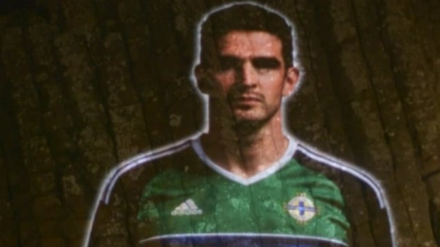 NI striker Kyle Lafferty in the video announcement