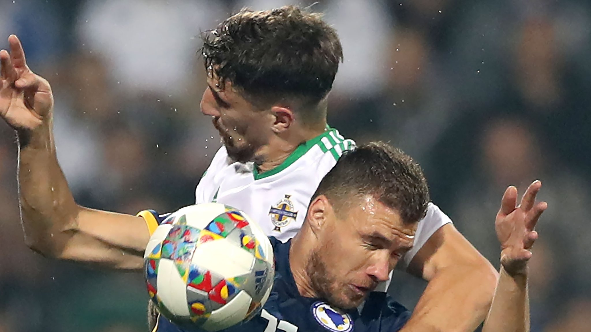 Dzeko double sends Northern Ireland to third straight Nations League defeat