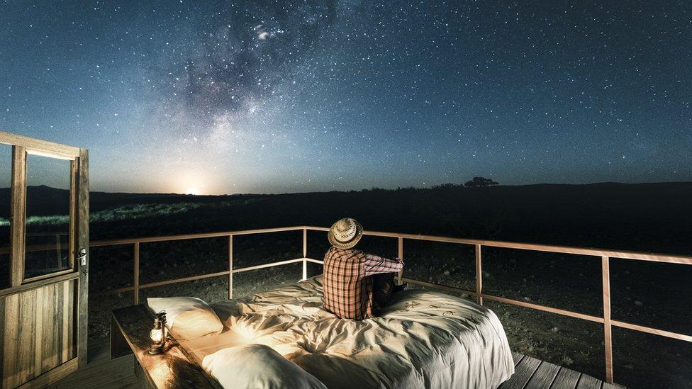 Anochecer en Namibia