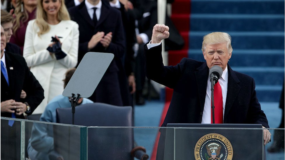 Trump Inauguration Speech Angry Authentic Primal Bbc News