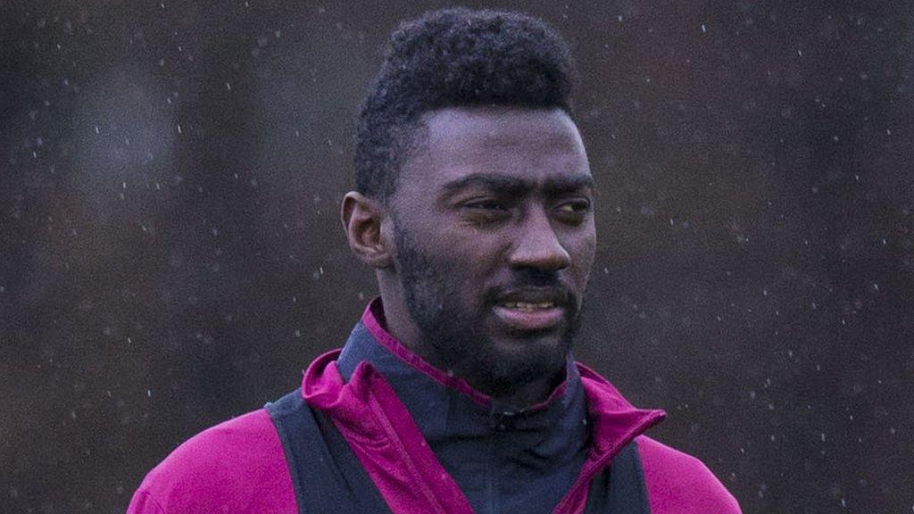 Prince Buaben: Falkirk sign former Hearts midfielder