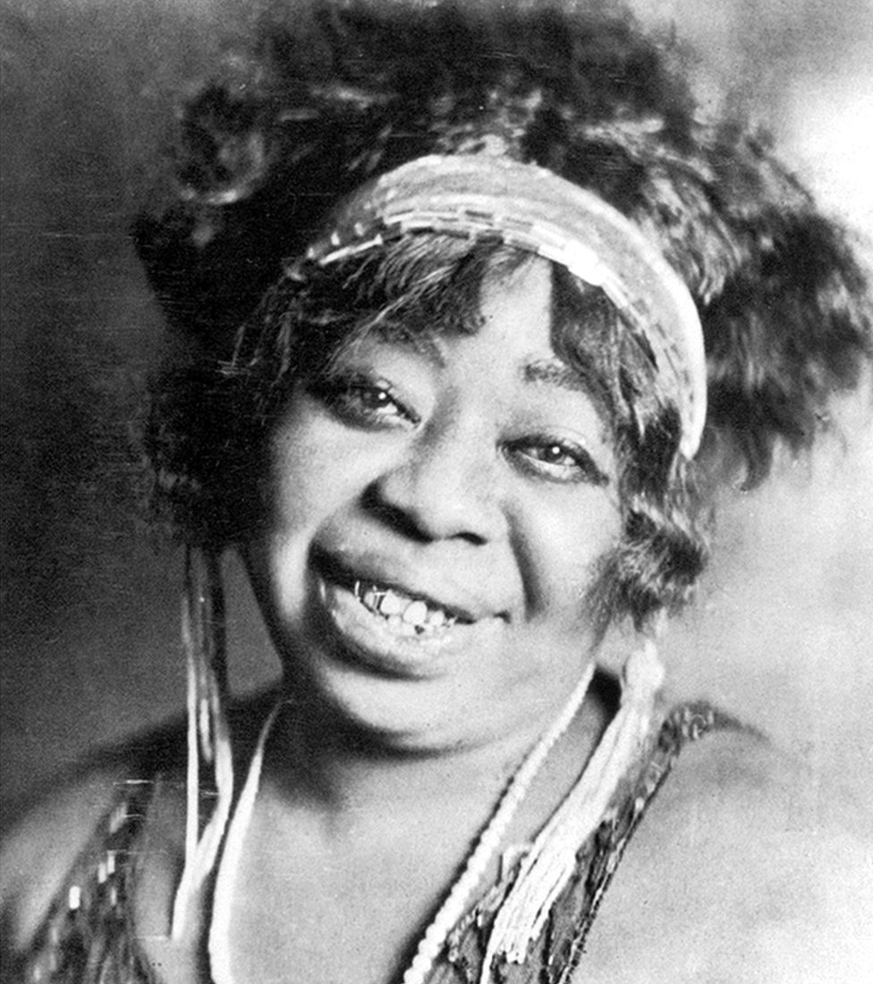 Ma Rainey was one of the first African American professional Blues singers and famous for her flamboyant style
