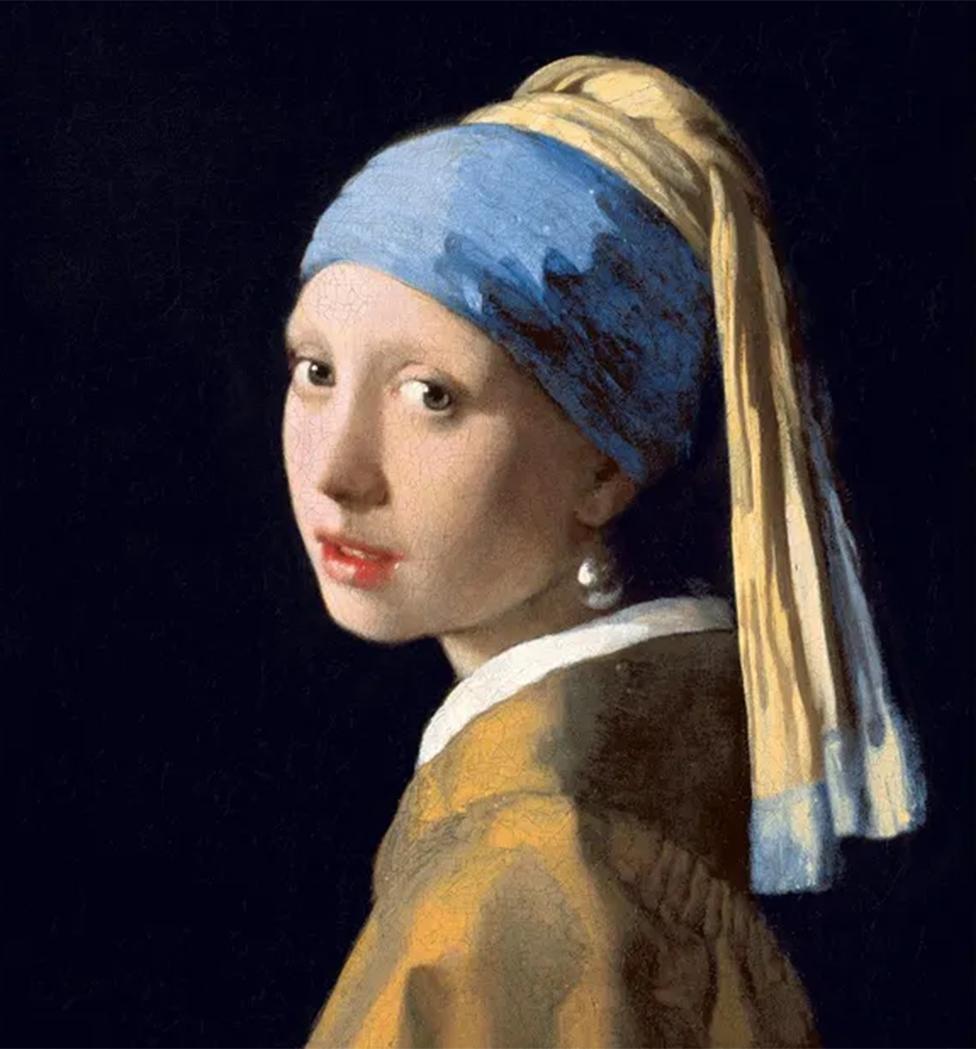 """""""La niña con un pendiente de perla"""", de Vermeer (hacia 1665)"""