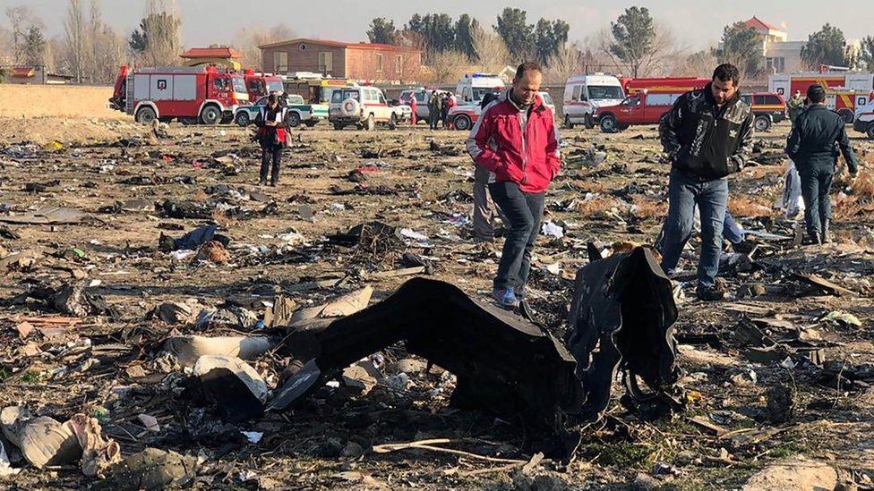 Ukrainian plane crash wreckage