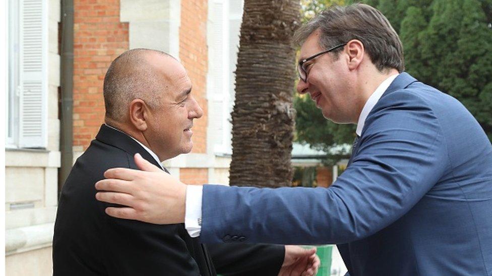 Bojko Borisov i Aleksandar Vučić