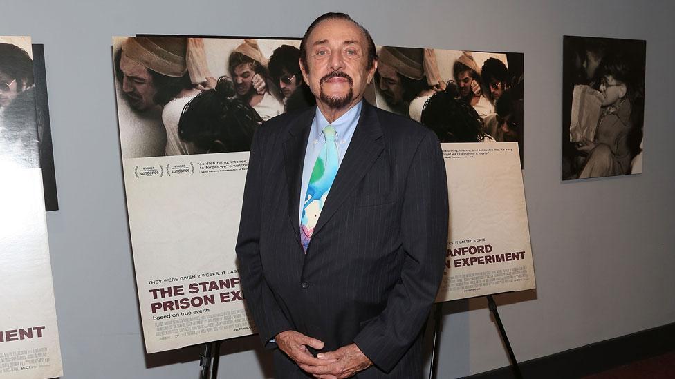 """Zimbardo en el estreno de """"The Stanford Prison Experiment"""" (2015), el film más reciente realizado sobre el controvertido experimento."""