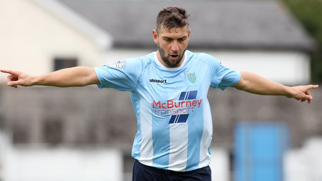 Matthew Tipton scored a hat-trick of goals all from the penalty spot against Cliftonville