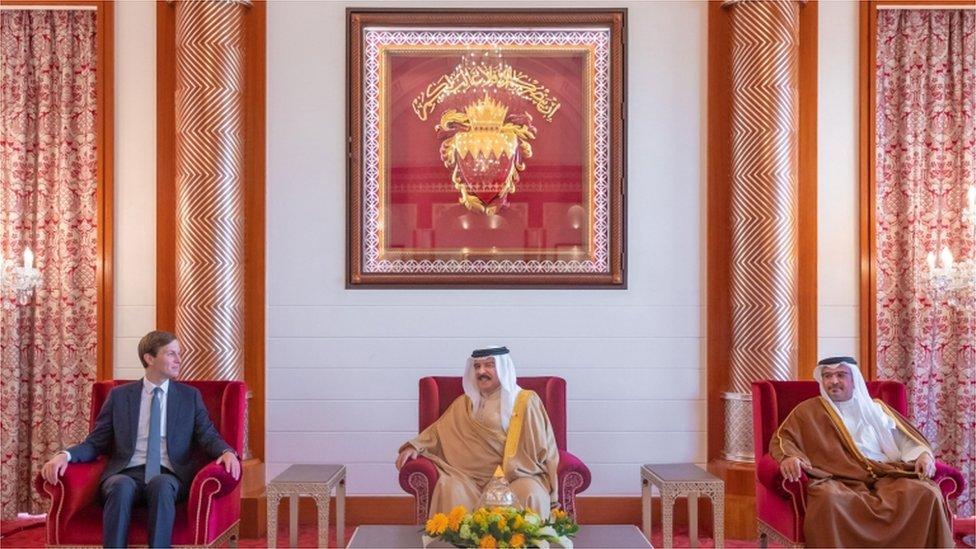 Kushner y el rey de Bahréin.