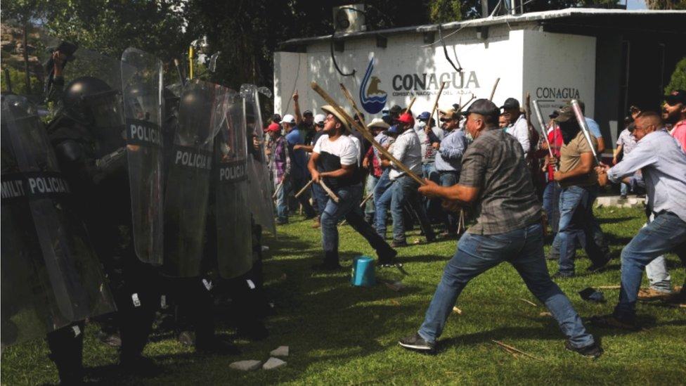 Protesta en La Boquilla