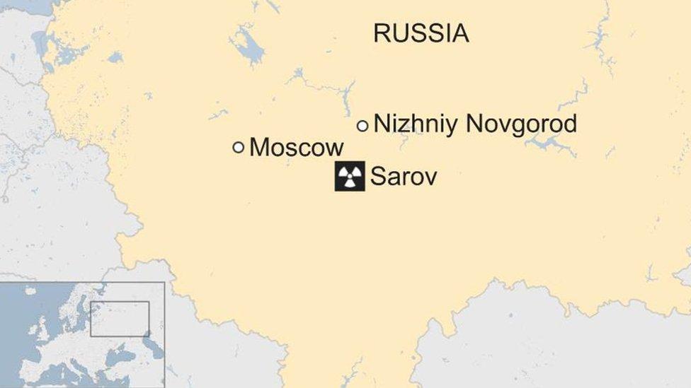 Russia Sarov map
