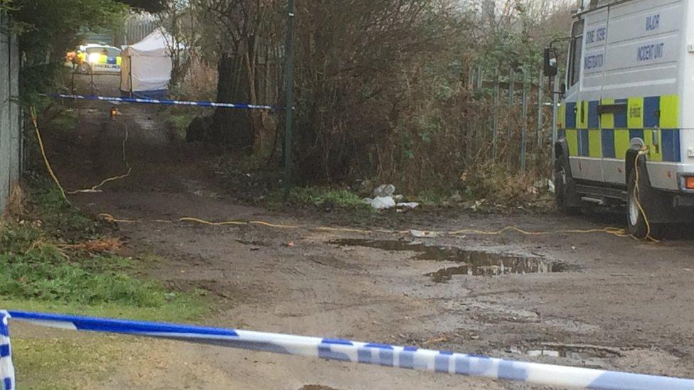 Police at the scene in Dinnington