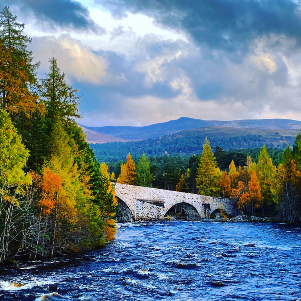 Callum Scott was delighted with this image of the Old Bridge of Dee, on the Invercauld Estate in Braemar.