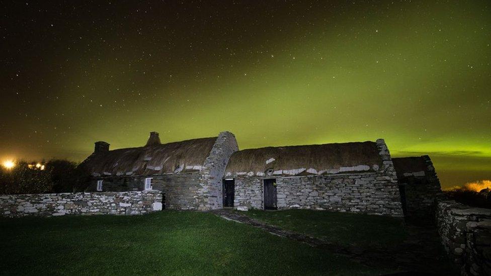 Northern Lights at Shetland Croft Museum