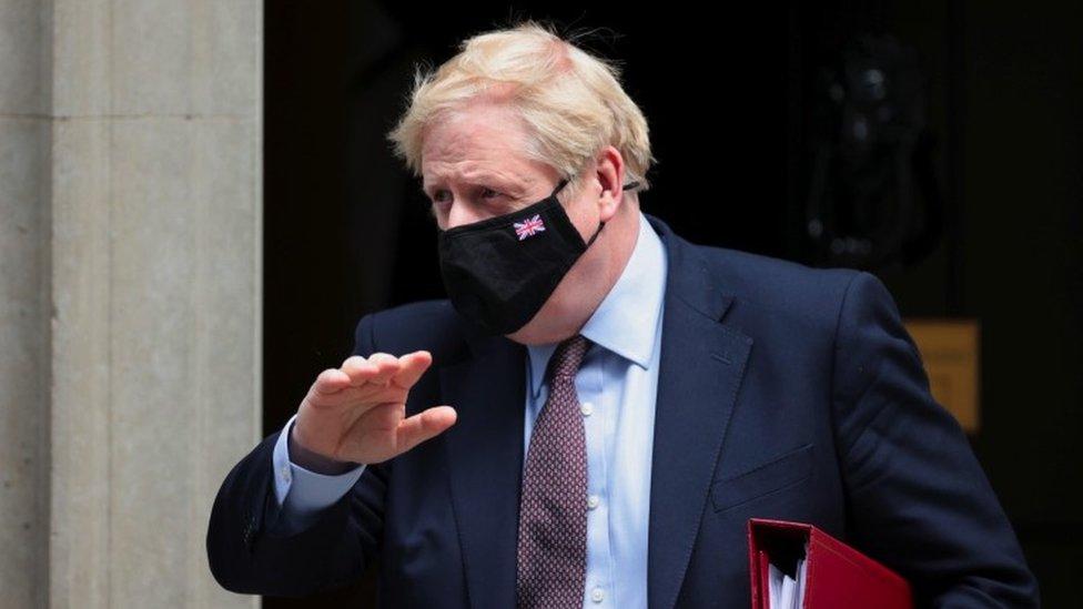 Boris Johnson outside 10 Downing Street