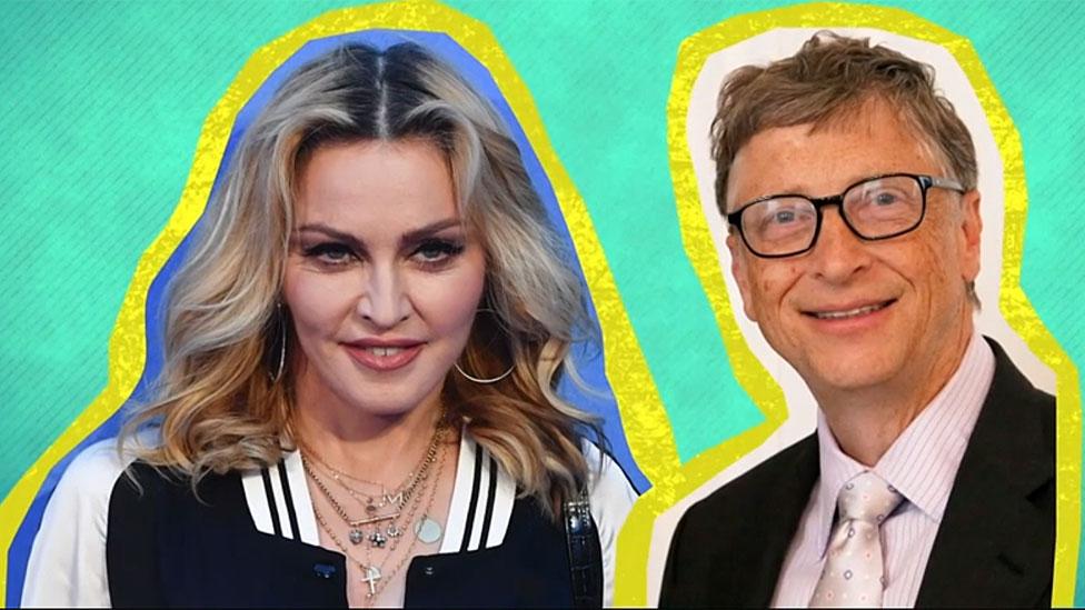 Bill Gates y Madonna