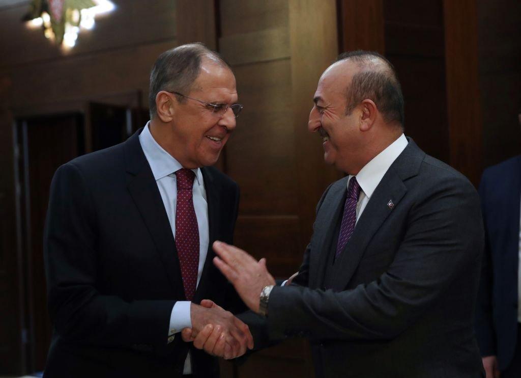 وزير الخارجية التركي ونظيره الروسي