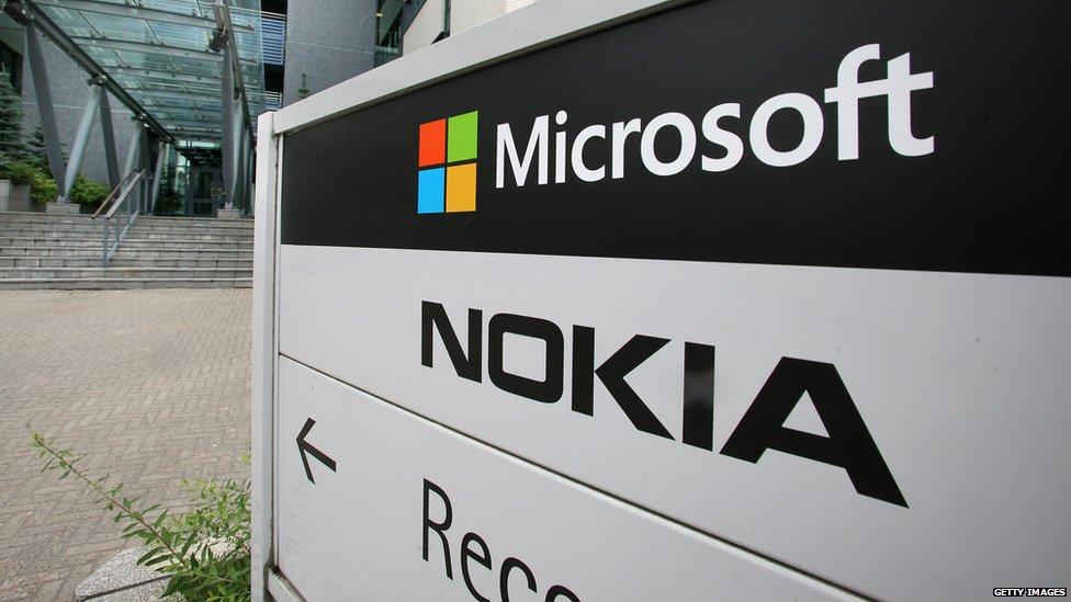 Microsoft Nokia sign