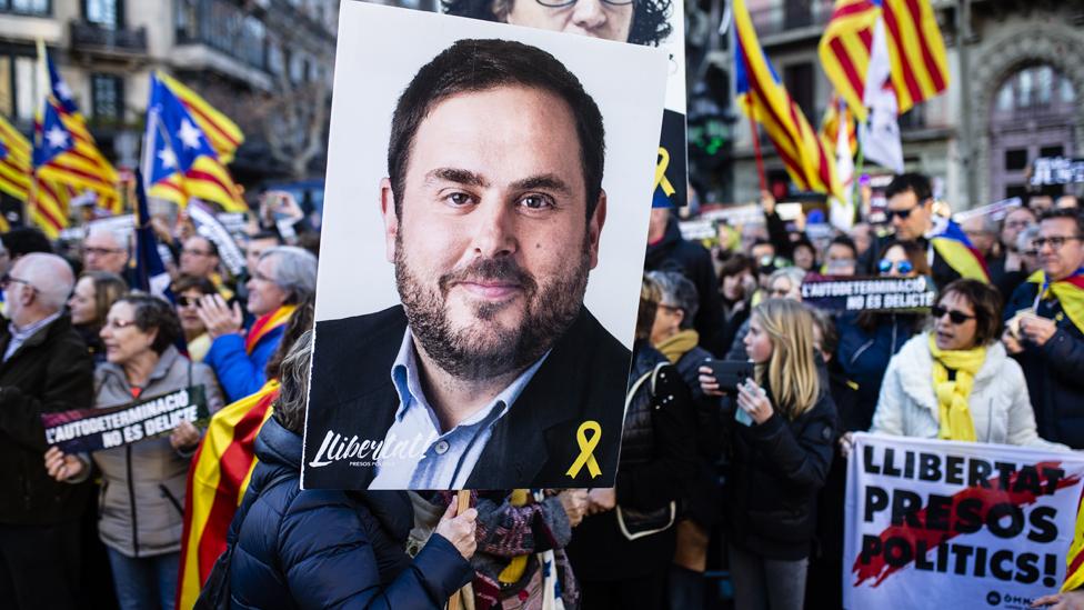 Catalan rally in Barcelona, 16 Feb 19