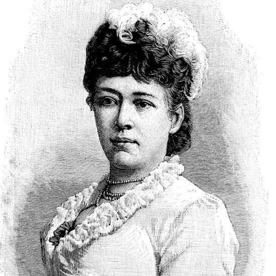 Dibujo de Bertha von Suttner