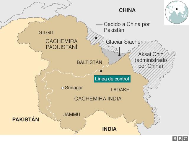 Mapa cachemira