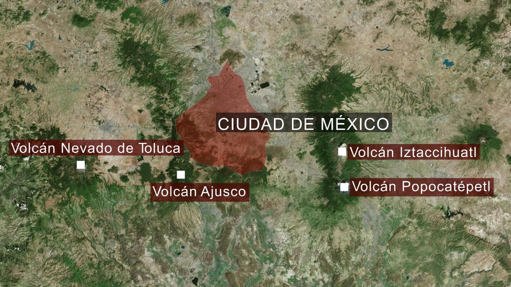 Mapa del centro de México
