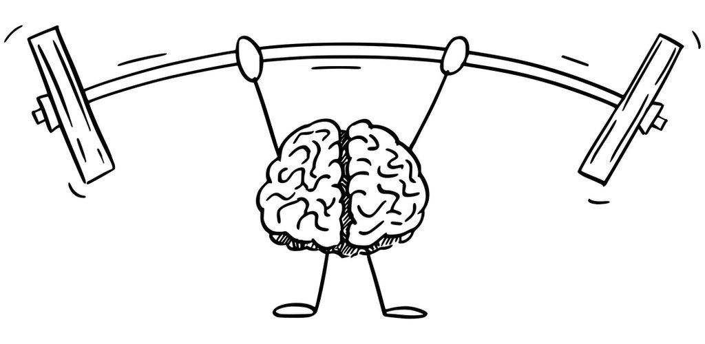cerebro alzando pesas
