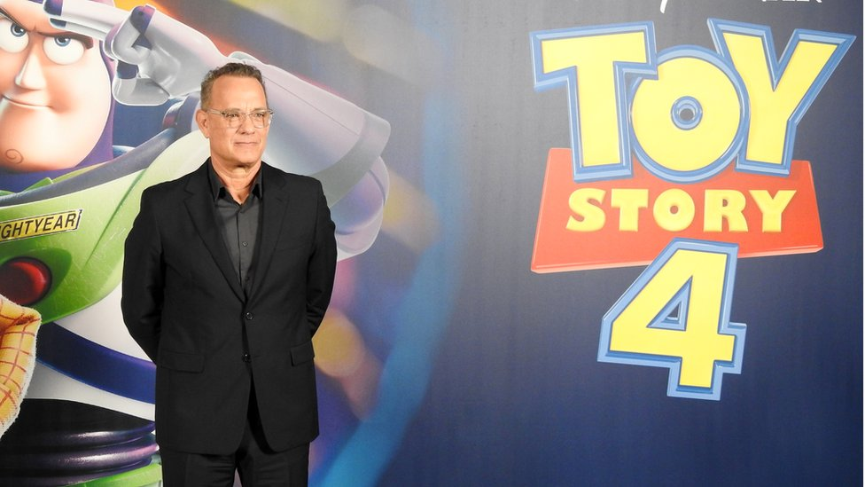 Tom Hanks reprised his role as Woody in the Toy Story 4
