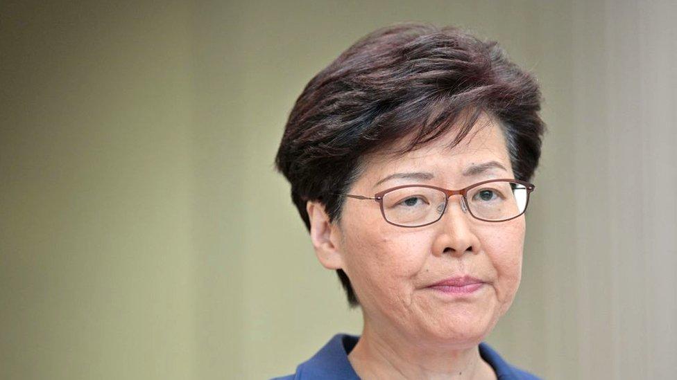 Carrie Lam, líder ejecutiva de Hong Kong.